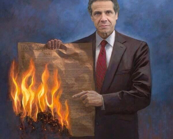 Cuomo burns constitution