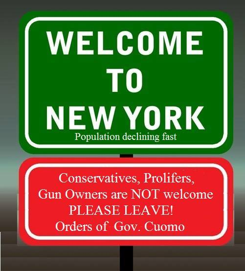 NY welcome sign