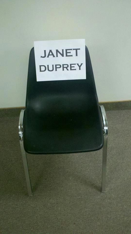 Janet Duprey.empty chair 2
